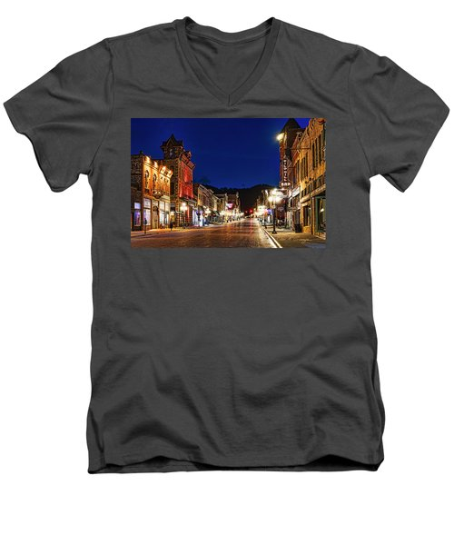 Then And Now Men's V-Neck T-Shirt