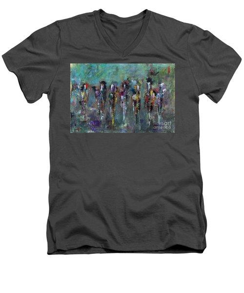 Then Came Seven Horses Men's V-Neck T-Shirt