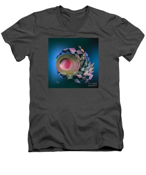 Men's V-Neck T-Shirt featuring the digital art Theory Of Joke by Leo Symon