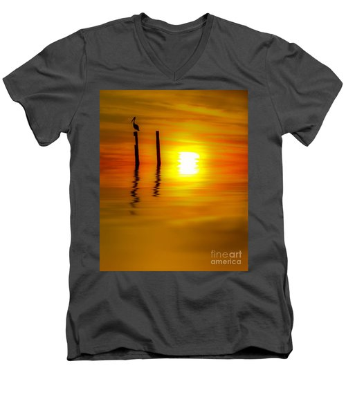 There Are Moments Men's V-Neck T-Shirt by Kym Clarke