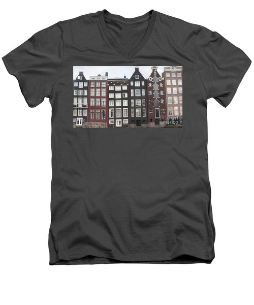 There Was A Crooked House Men's V-Neck T-Shirt by Therese Alcorn
