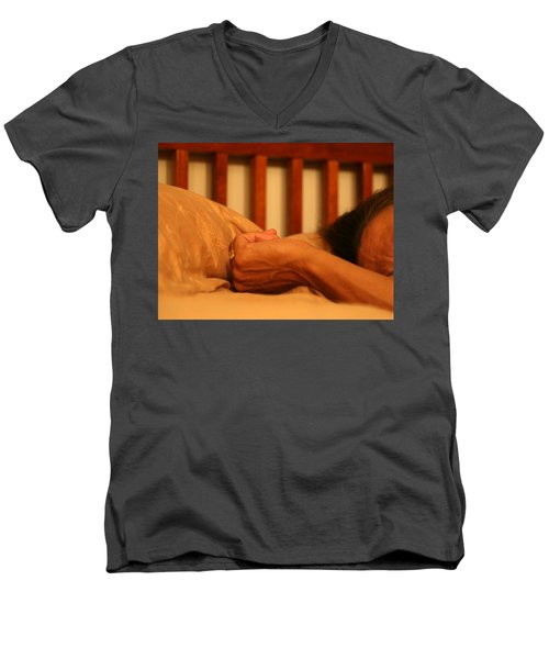 026 - Theresa's Hand Men's V-Neck T-Shirt