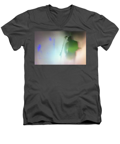 Men's V-Neck T-Shirt featuring the photograph They Came Bearing Guitars by Alex Lapidus