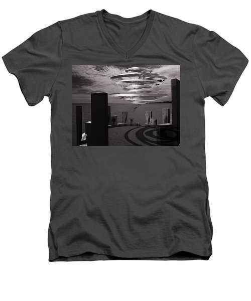 Men's V-Neck T-Shirt featuring the photograph They're Back.... by Keith Elliott