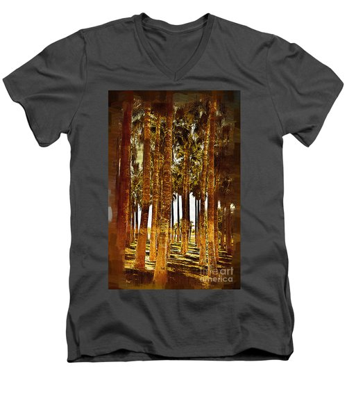 Thick Palm Trees Men's V-Neck T-Shirt by Kirt Tisdale