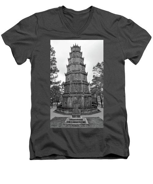 Thien Mu Pagoda Men's V-Neck T-Shirt