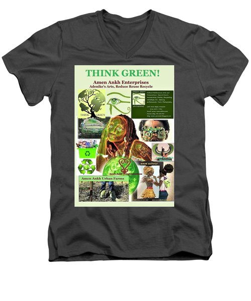 Think Green Men's V-Neck T-Shirt