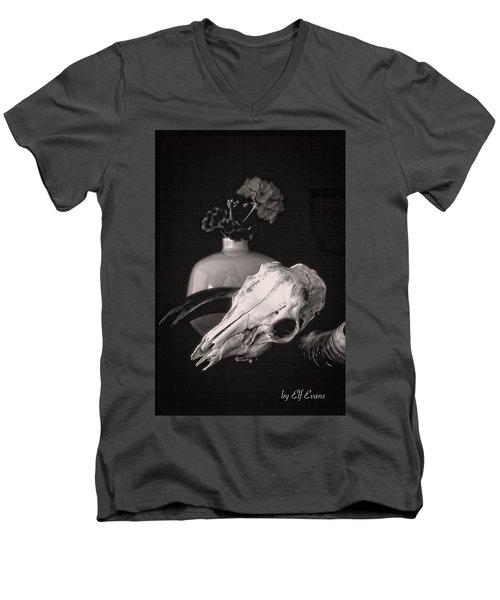 Thinking Of Georgia O'keeffe Men's V-Neck T-Shirt by Elf Evans