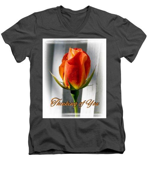 Thinking Of You, Rose Men's V-Neck T-Shirt
