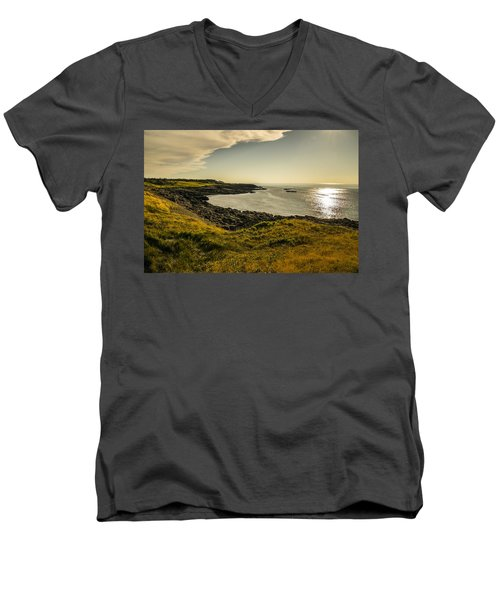 Thinking Sunset Men's V-Neck T-Shirt by Will Burlingham