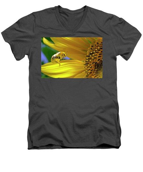 This Bee Needs A Bath Men's V-Neck T-Shirt