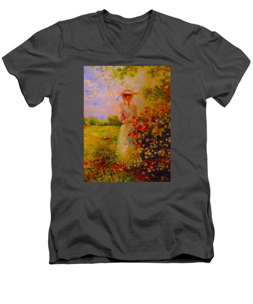 This Is A Good View Men's V-Neck T-Shirt by Emery Franklin