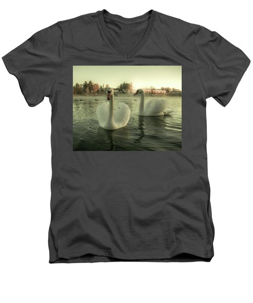 This Is Purity And Innocence Men's V-Neck T-Shirt by Rose-Marie Karlsen