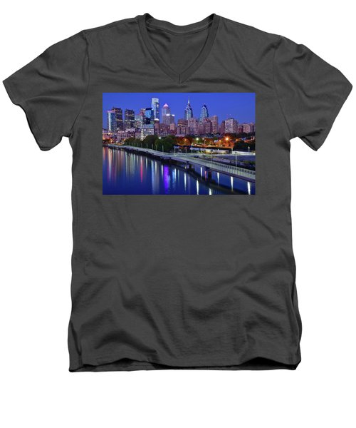 Men's V-Neck T-Shirt featuring the photograph This Is The Shot You Want by Frozen in Time Fine Art Photography