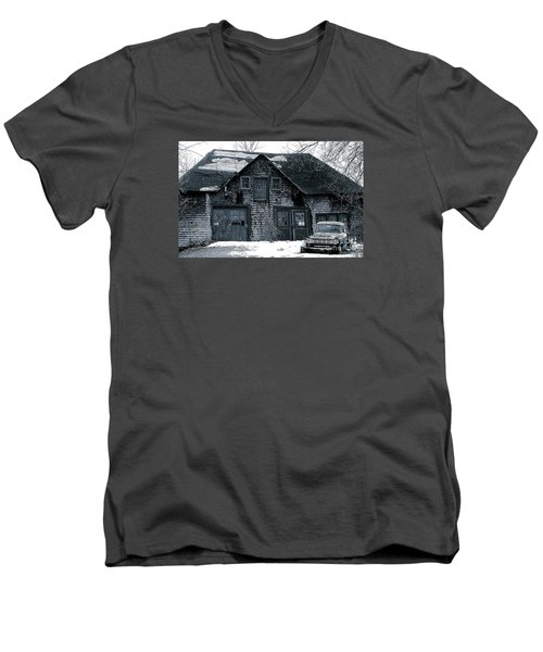 This Old House  6 Men's V-Neck T-Shirt by Iris Gelbart