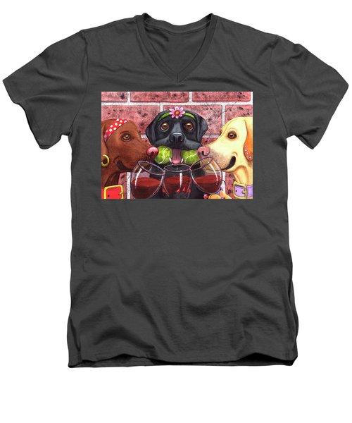 This Winer Has Balls Men's V-Neck T-Shirt