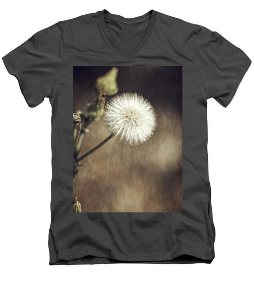 Men's V-Neck T-Shirt featuring the photograph Thistle by Carolyn Marshall