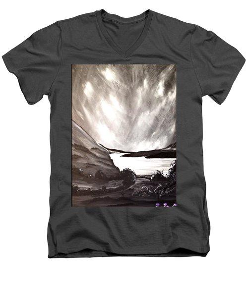 Thistle Do Nicely Men's V-Neck T-Shirt by Scott Wilmot