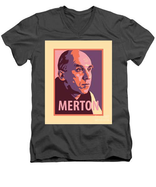 Thomas Merton - Jltme Men's V-Neck T-Shirt