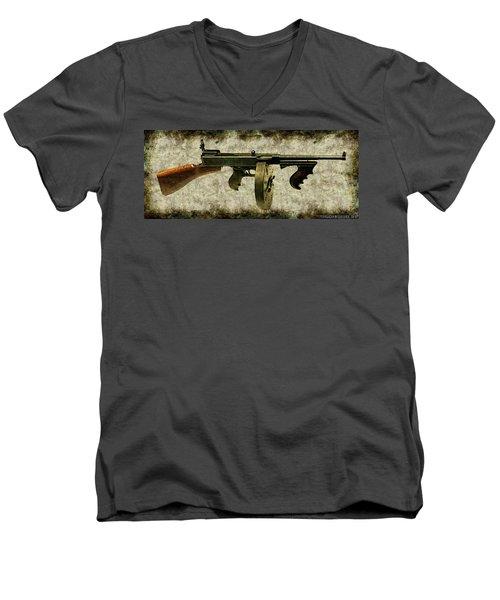 Thompson Submachine Gun 1921 Men's V-Neck T-Shirt