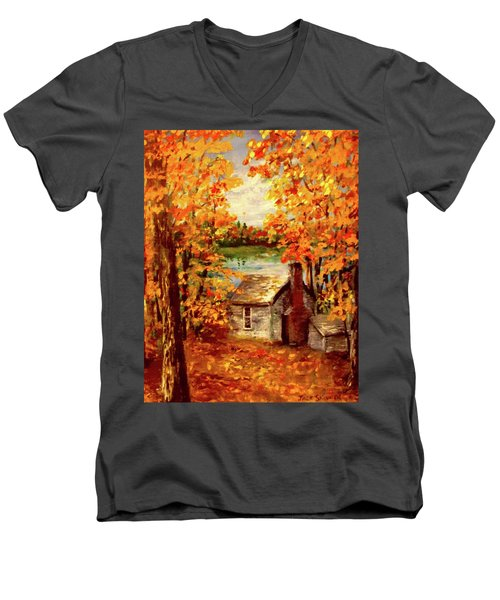 Thoreau's Cove Men's V-Neck T-Shirt