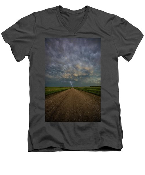 Men's V-Neck T-Shirt featuring the photograph Thor's Chariot  by Aaron J Groen