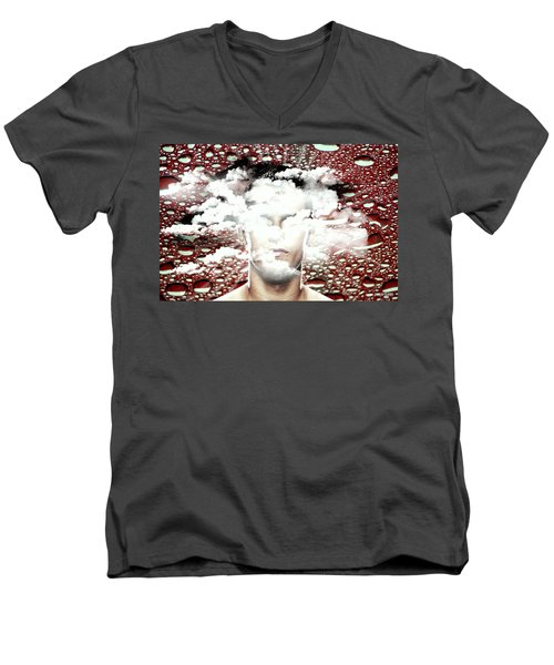 Thoughts Are Like Clouds Passing Through The Sky Men's V-Neck T-Shirt