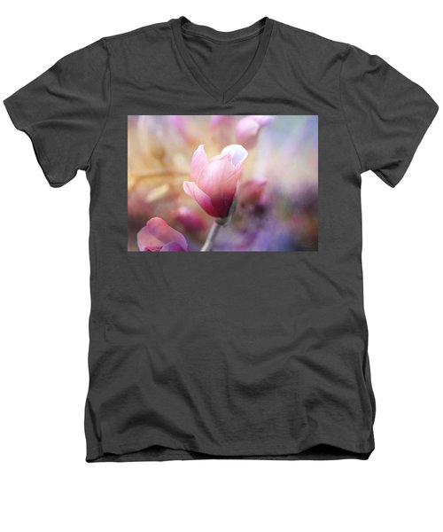 Thoughts Of Flowers Men's V-Neck T-Shirt