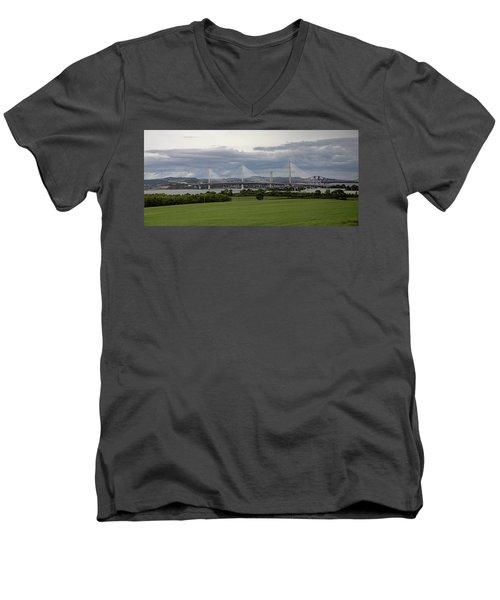 Three Bridges Over The Forth Men's V-Neck T-Shirt
