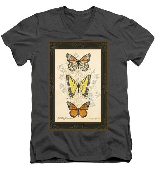Three Butterflies Men's V-Neck T-Shirt