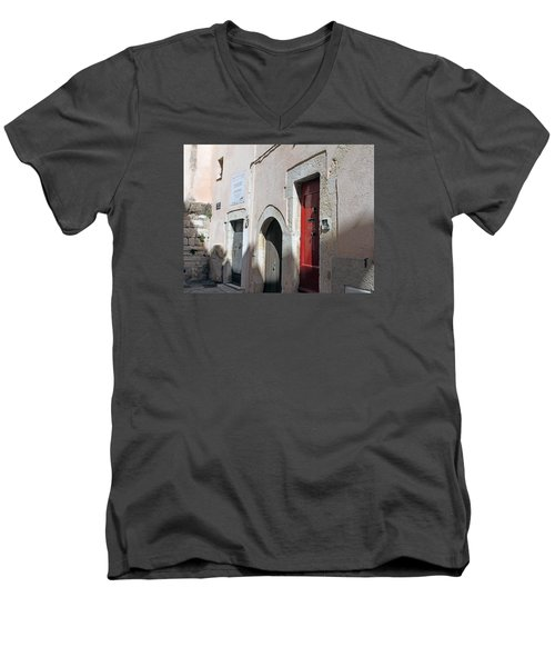 Three Different Doors Men's V-Neck T-Shirt by Allan Levin