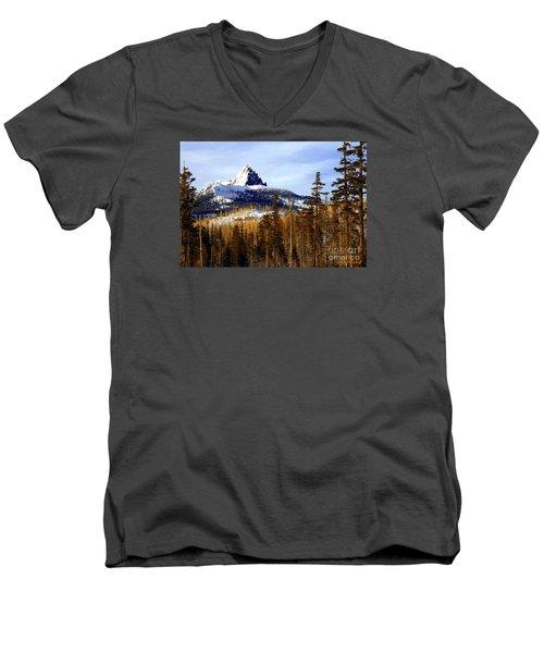Three Fingered Jack Men's V-Neck T-Shirt by Steve Warnstaff