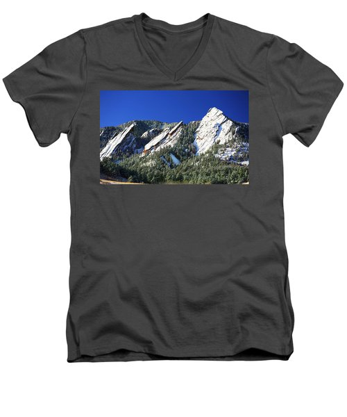Three Flatirons Men's V-Neck T-Shirt