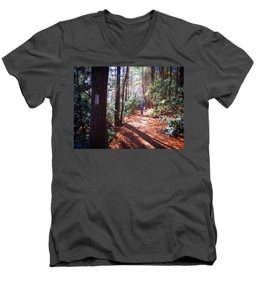 Three Forks Men's V-Neck T-Shirt