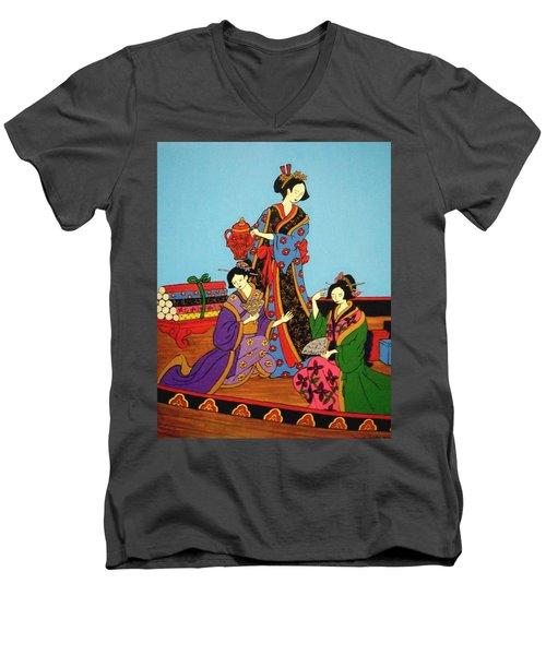 Three Geishas Men's V-Neck T-Shirt