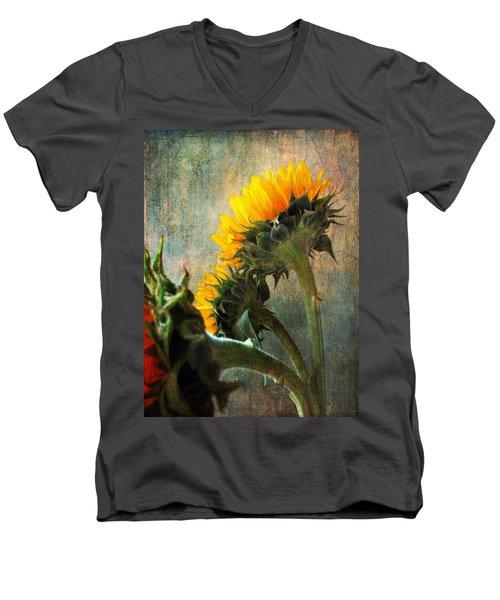 Men's V-Neck T-Shirt featuring the photograph Three by John Rivera