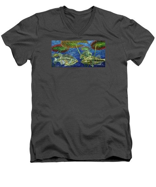 Three Musketeers Men's V-Neck T-Shirt by David Joyner