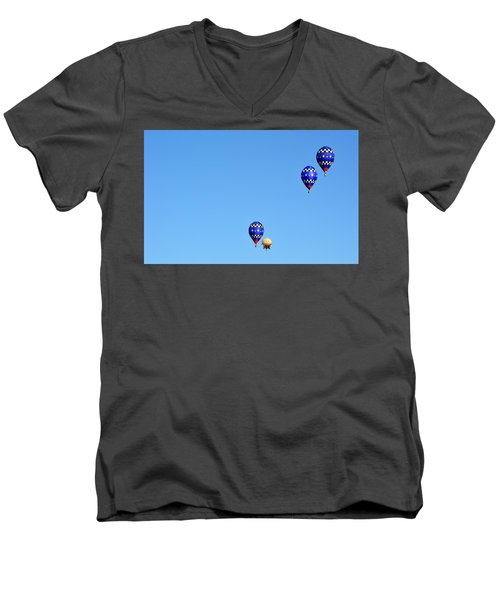 Men's V-Neck T-Shirt featuring the photograph Three Of A Kind And Humpty Too by AJ Schibig