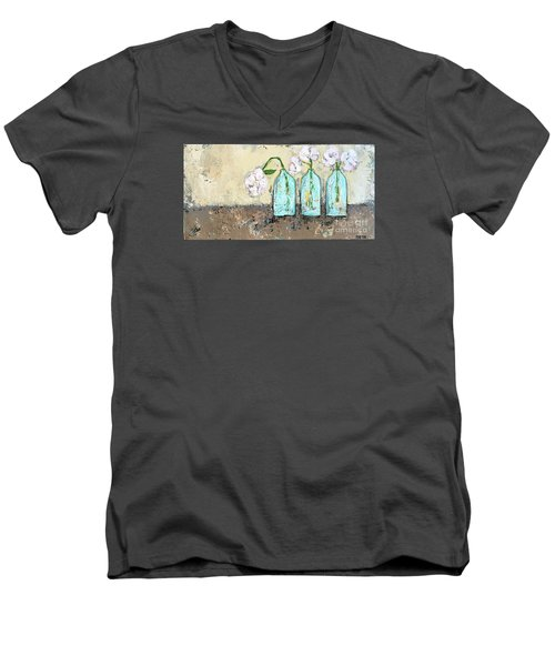 Three Of A Kind Men's V-Neck T-Shirt by Kirsten Reed