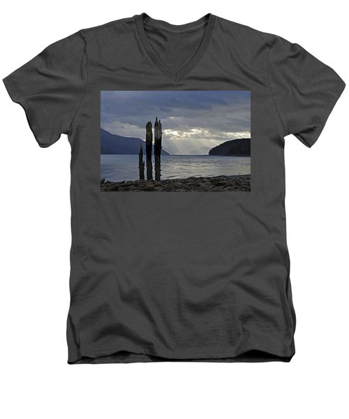 Three Remain Men's V-Neck T-Shirt by Cathy Mahnke