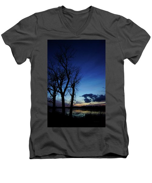 Men's V-Neck T-Shirt featuring the photograph Three Sisters by Cricket Hackmann