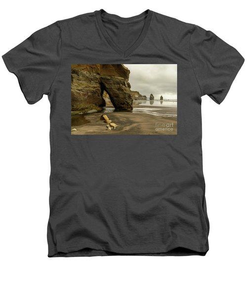 Three Sisters Men's V-Neck T-Shirt by Werner Padarin