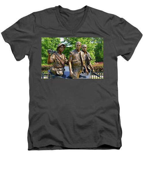 Three Soldiers Monument Men's V-Neck T-Shirt