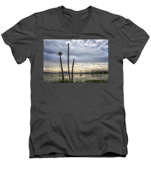 Three Sticks Men's V-Neck T-Shirt