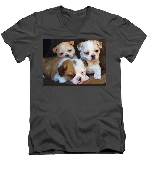 Three Sweeties Men's V-Neck T-Shirt
