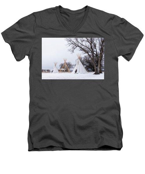 Three Tipis Men's V-Neck T-Shirt
