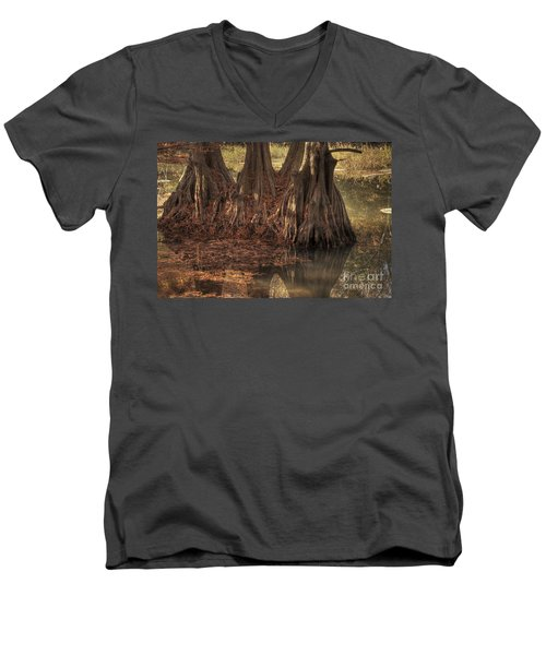 Three Trees In Lake Murray Men's V-Neck T-Shirt by Tamyra Ayles