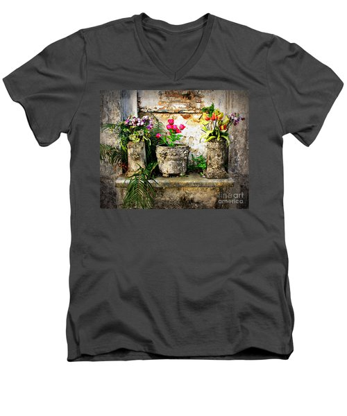Three Vases Men's V-Neck T-Shirt