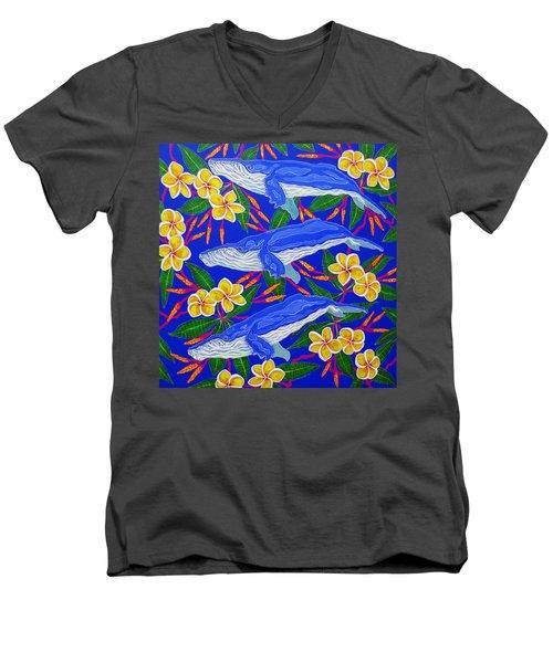 Three Whales  Men's V-Neck T-Shirt