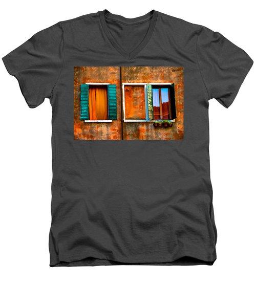 Three Windows Men's V-Neck T-Shirt by Harry Spitz